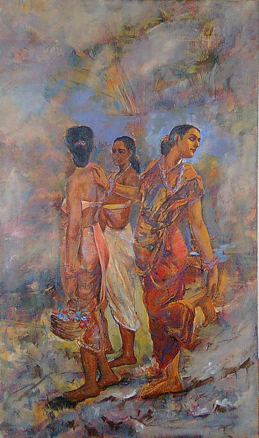 Re Copy Painting - Sakuntala by Jaffo Jaffer