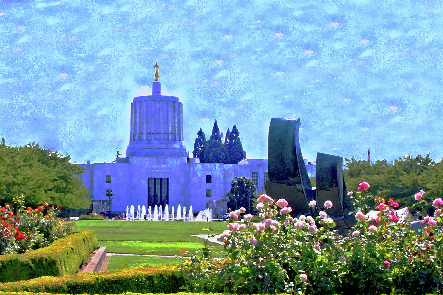 Salem Oregon State Capital Photograph  - Salem Oregon State Capital Fine Art Print