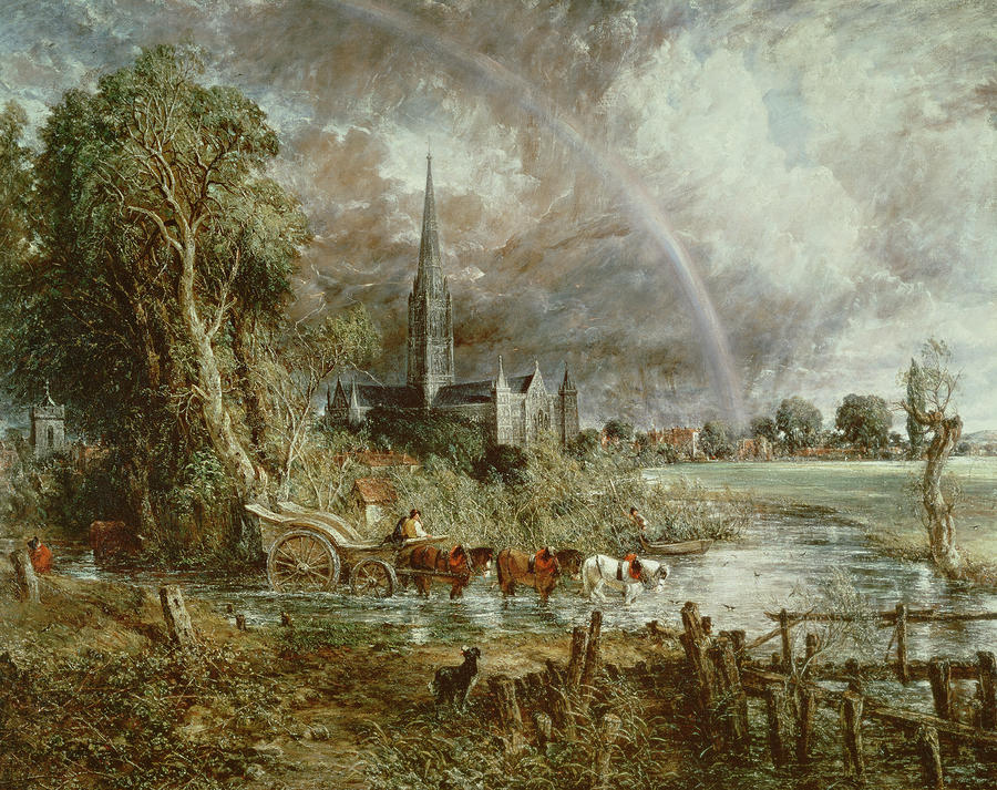 Salisbury Cathedral From The Meadows Painting