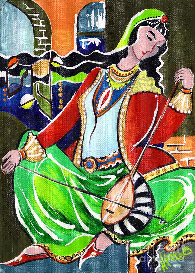 Sallaneh And Its Player Painting  - Sallaneh And Its Player Fine Art Print