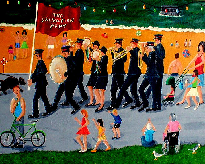 Sally Army Painting  - Sally Army Fine Art Print