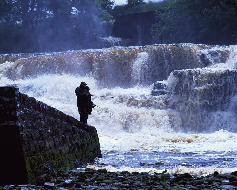 Salmon Fishing, Ballisodare River, Co Photograph