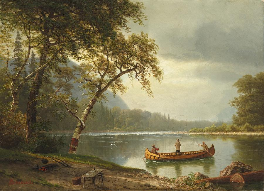 Salmon Fishing On The Caspapediac River Painting