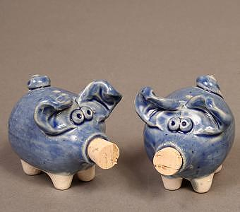 Salt And Pepper Pigs Sculpture
