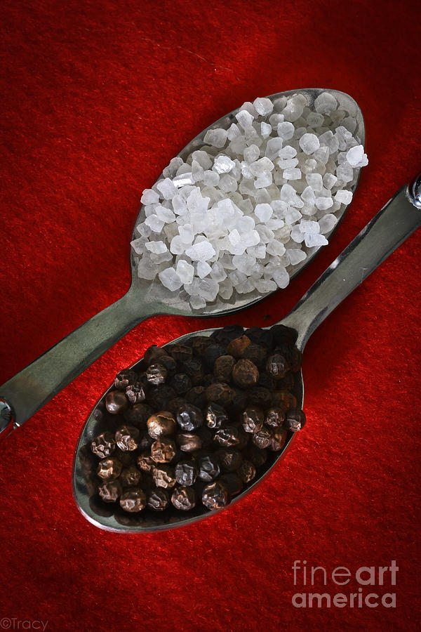 Salt Photograph - Salt And Pepper by Tracy  Hall