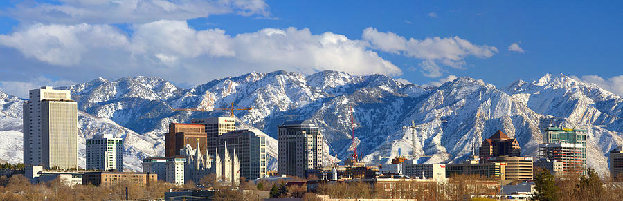 Salt Lake City Skyline Photograph  - Salt Lake City Skyline Fine Art Print