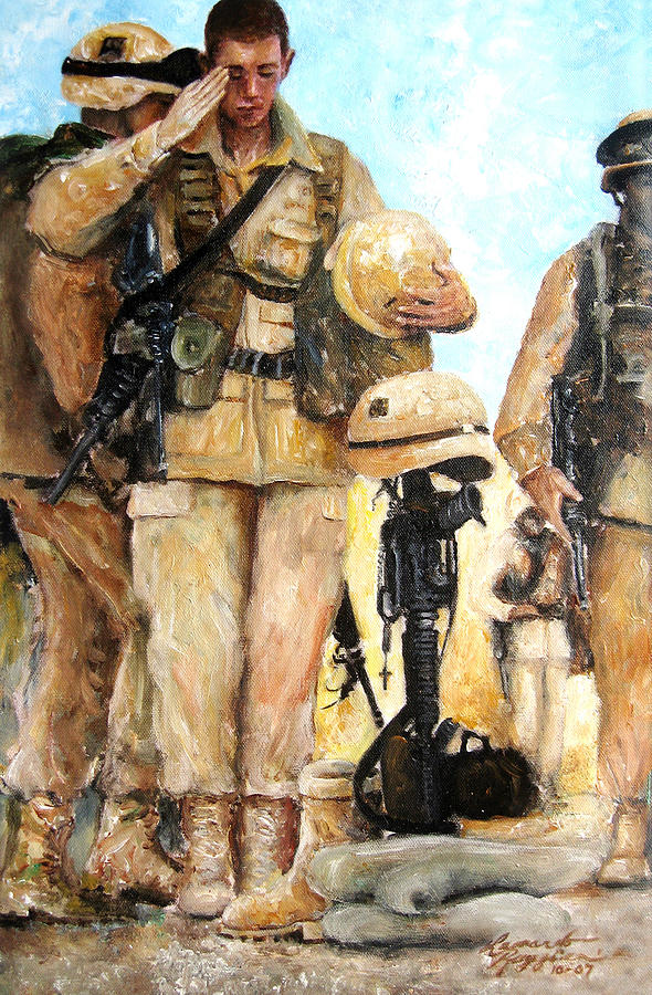 Saluting The Fallen Painting