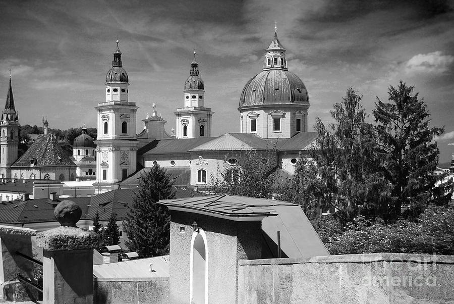 Salzburg Black And White Austria Europe Photograph