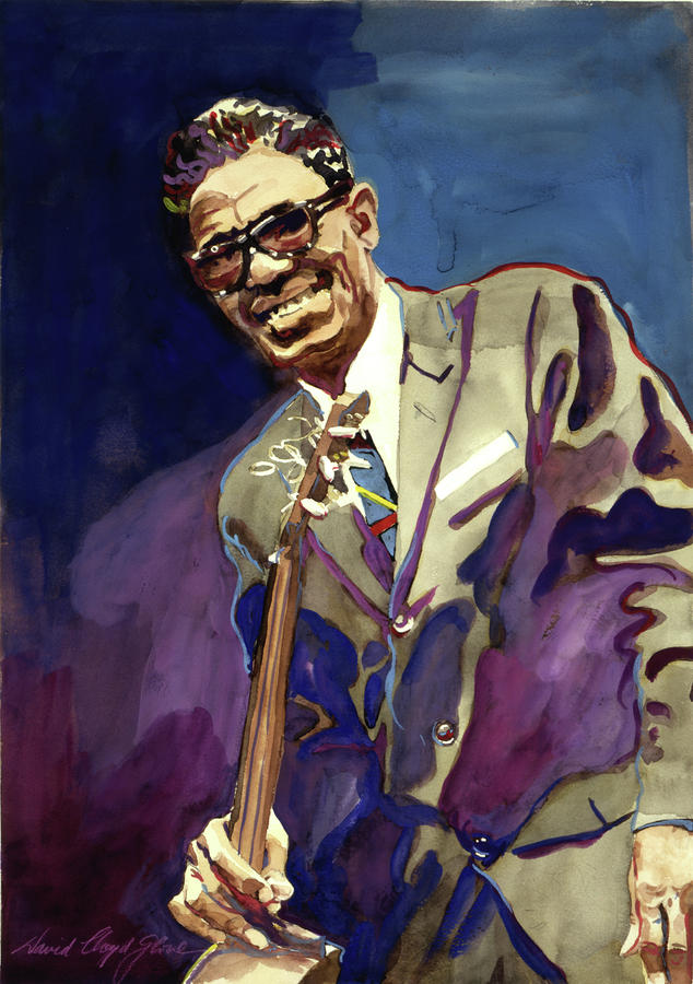 Sam Lightnin Hopkins Painting