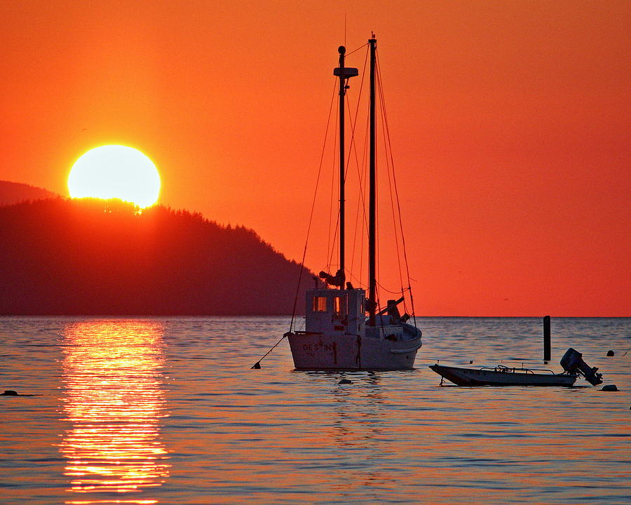 Samish Island Sunset 2 Photograph