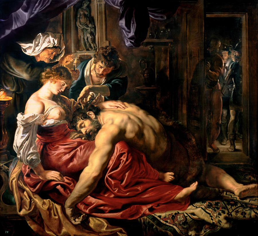 Samson And Delilah Painting  - Samson And Delilah Fine Art Print