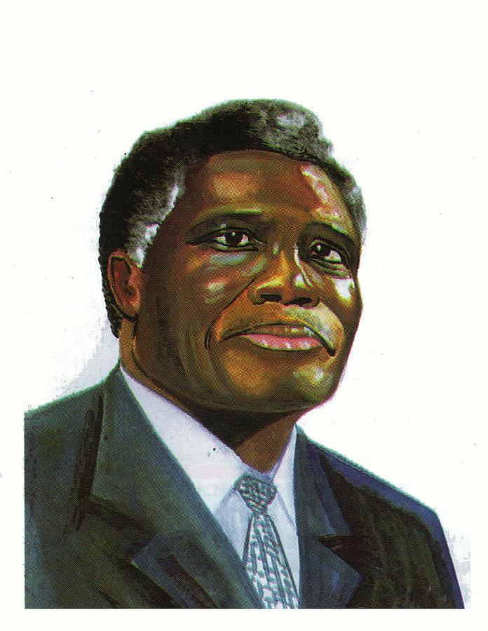 Portraits Painting - Samuel Kobia by Emmanuel Baliyanga