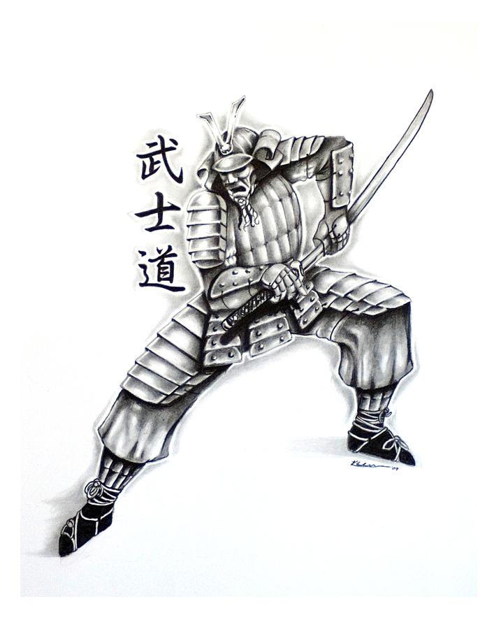 Samurai Tattoo Design 2 By Kyle Adamache
