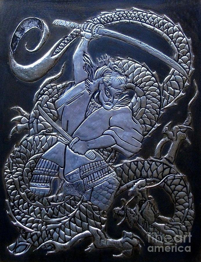 Samurai Vs Dragon ReliefDragon Samurai