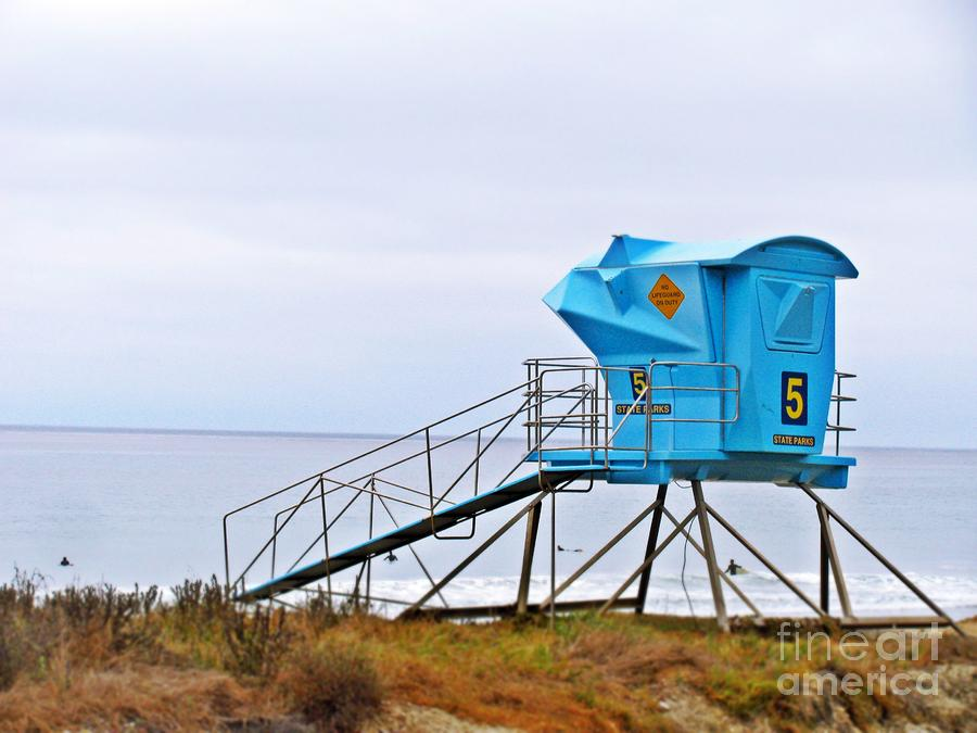 San Clemente State Beach Lifeguard Tower 5 Photograph  - San Clemente State Beach Lifeguard Tower 5 Fine Art Print