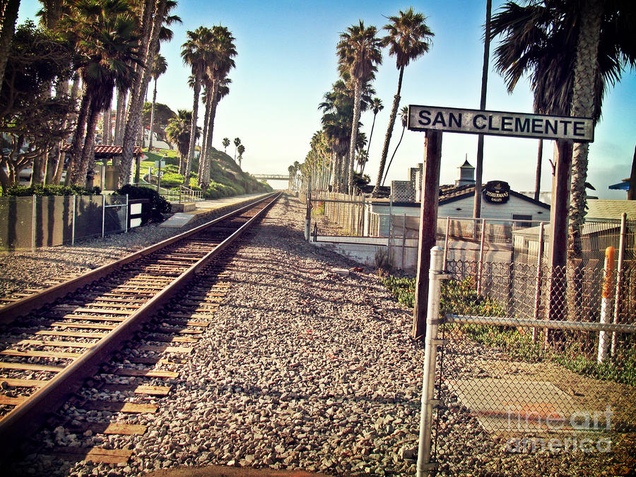 San Clemente Train Tracks Photograph  - San Clemente Train Tracks Fine Art Print
