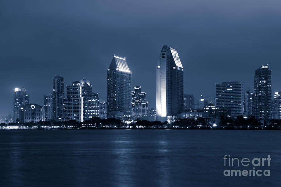 San Diego At Night Photograph