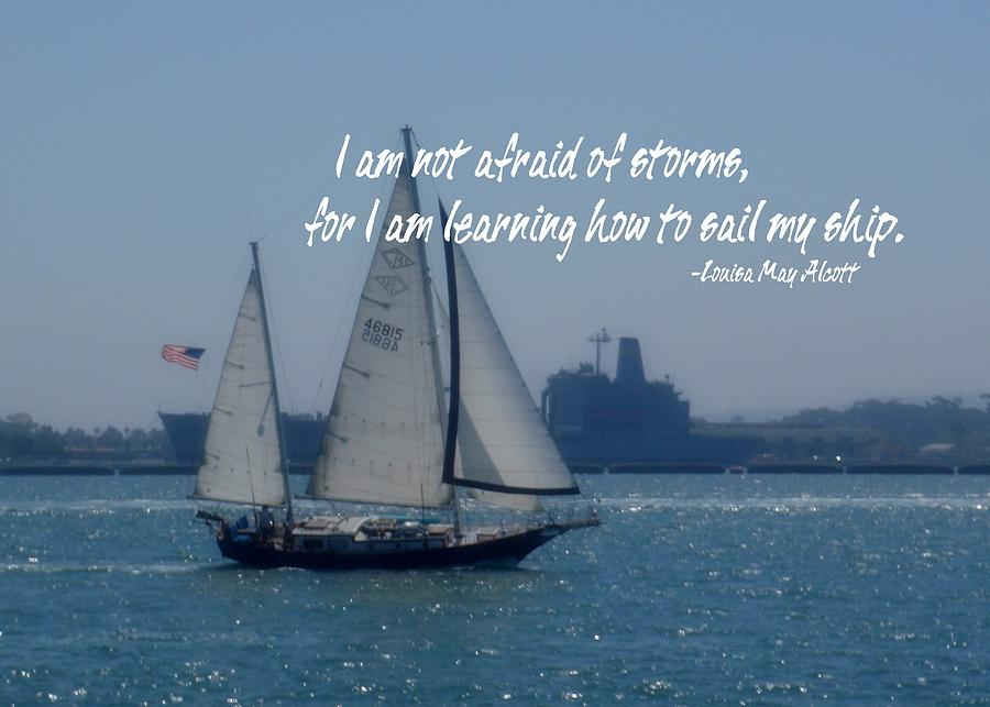 San Diego Bay Quote Photograph