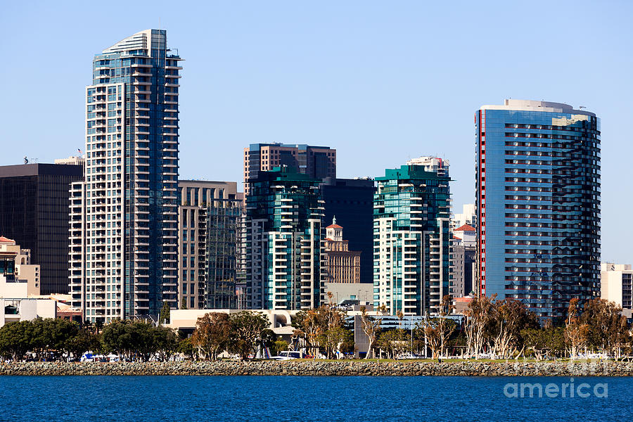 San Diego California Skyline Photograph  - San Diego California Skyline Fine Art Print