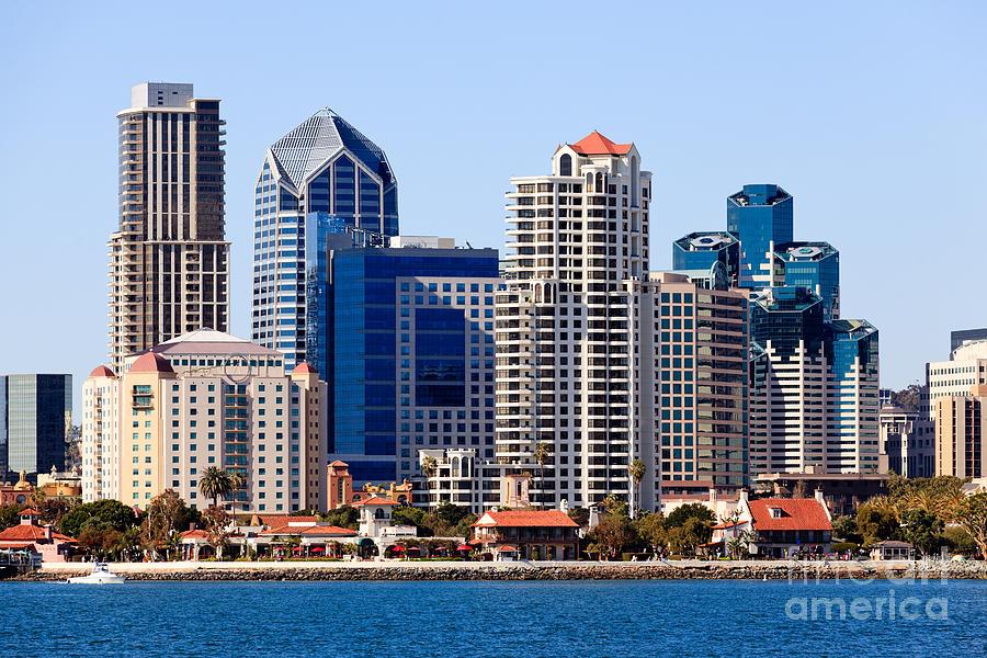 San Diego Skyline Photo Photograph