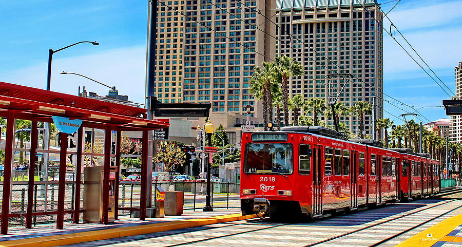 San Diego Trolley Downtown Photograph By Russ Harris
