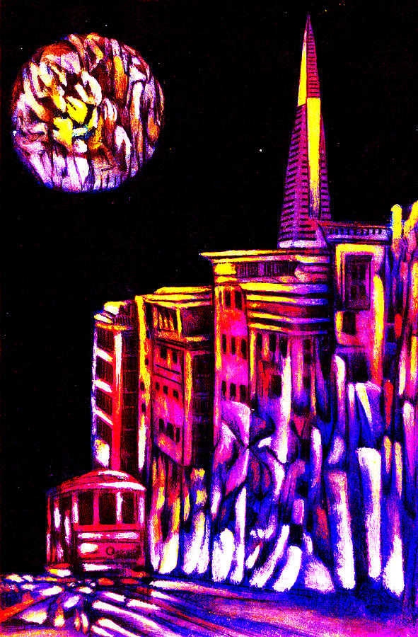 San Fracisco  Mixed Media  - San Fracisco  Fine Art Print