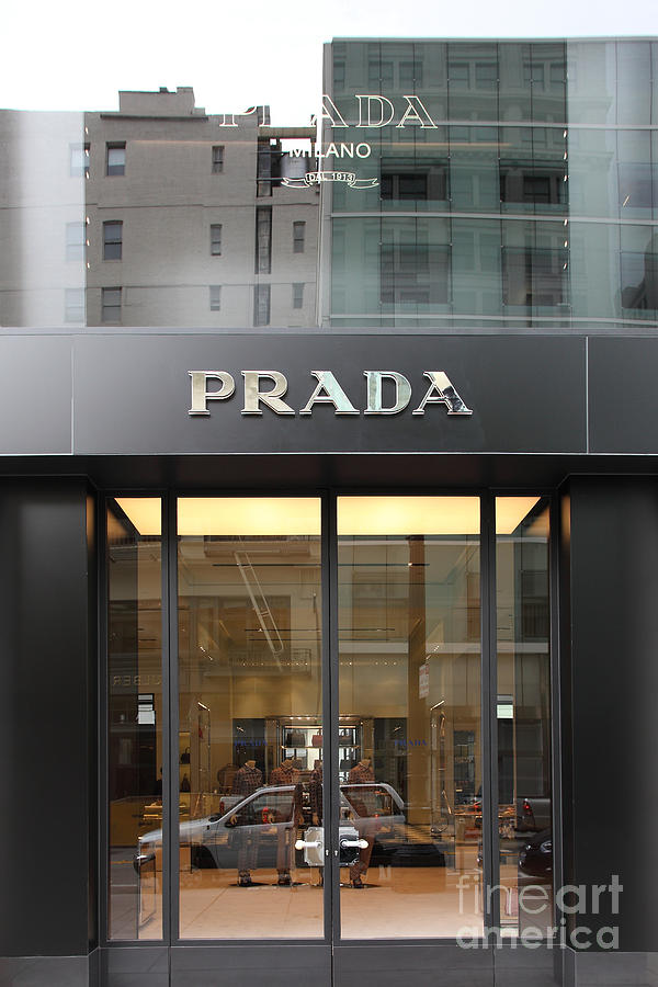 San Francisco - Maiden Lane - Prada Fashion Store - 5d17798 Photograph  - San Francisco - Maiden Lane - Prada Fashion Store - 5d17798 Fine Art Print