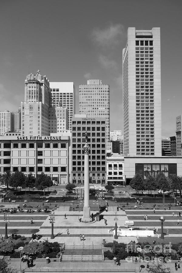 San Francisco - Union Square - 5d17941 - Black And White Photograph