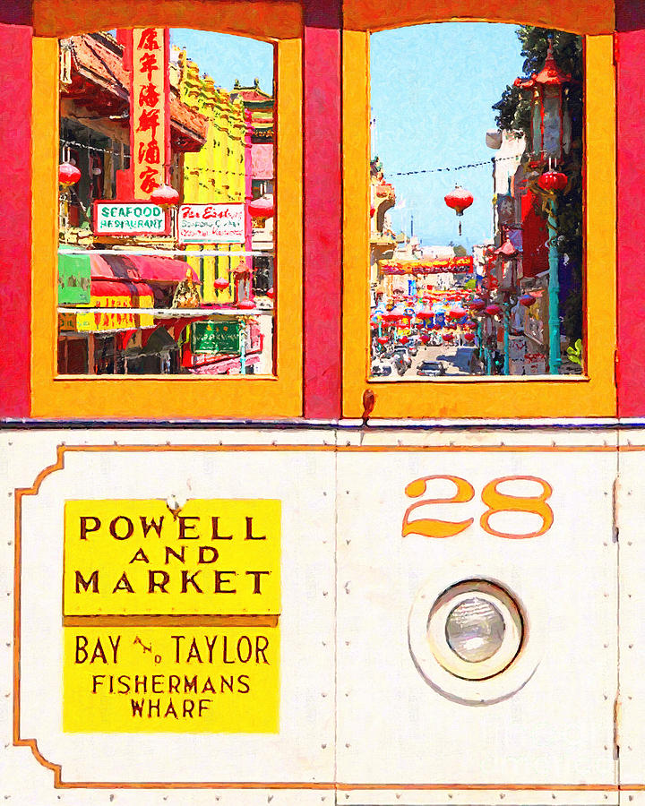 Sf Photograph - San Francisco Cablecar 28 . Chinatown by Wingsdomain Art and Photography