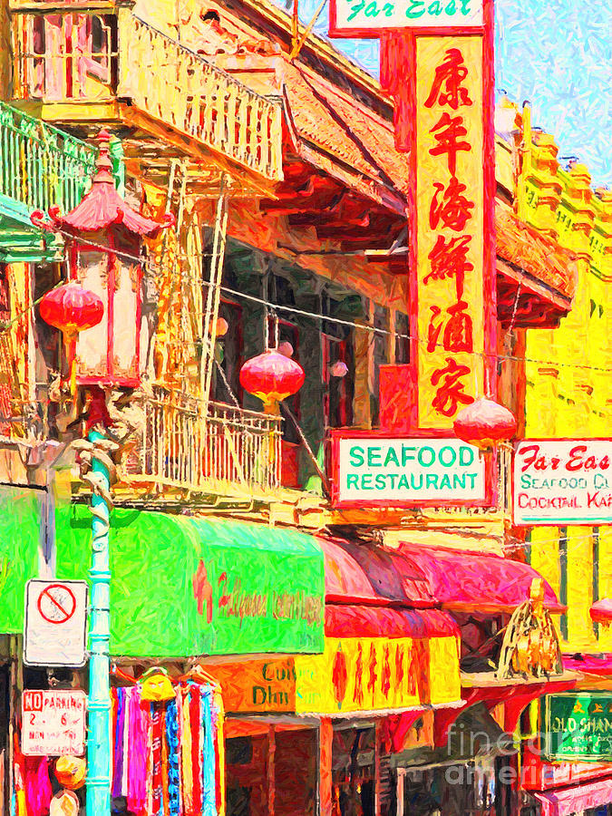 San Francisco Photograph - San Francisco Chinatown Shops by Wingsdomain Art and Photography