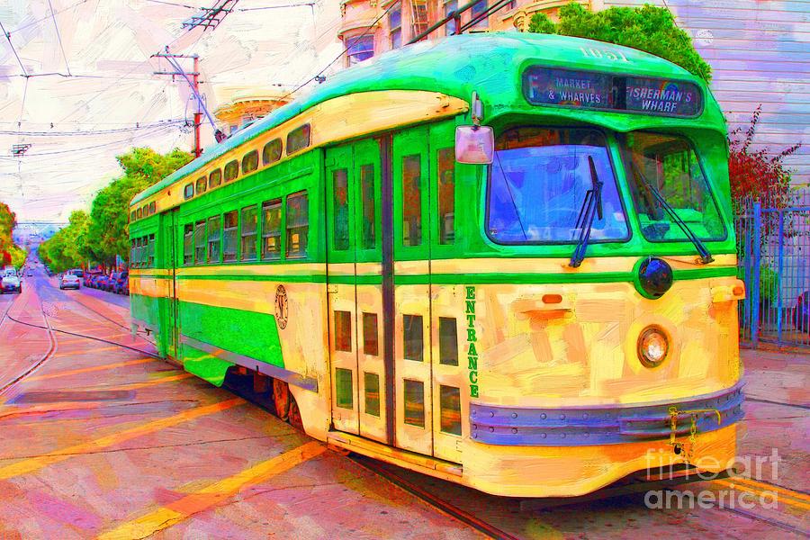 San Francisco F-line Trolley Photograph