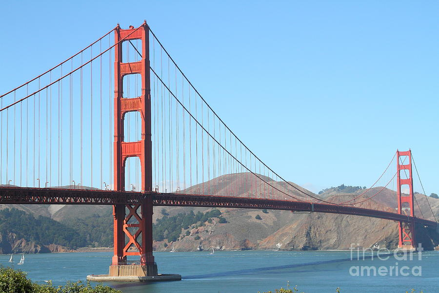 San Francisco Photograph - San Francisco Golden Gate Bridge . 7d7802 by Wingsdomain Art and Photography