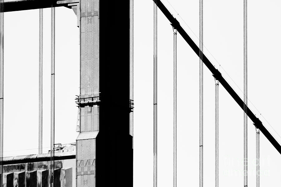 San Francisco Golden Gate Bridge . Black And White Photograph . 7d7954 Photograph  - San Francisco Golden Gate Bridge . Black And White Photograph . 7d7954 Fine Art Print