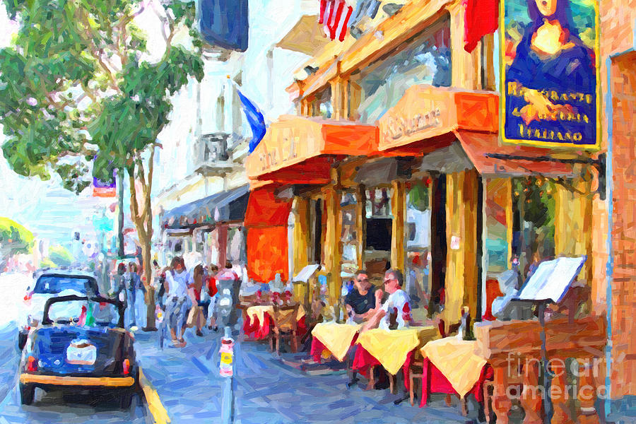 San Francisco North Beach Outdoor Dining Photograph  - San Francisco North Beach Outdoor Dining Fine Art Print