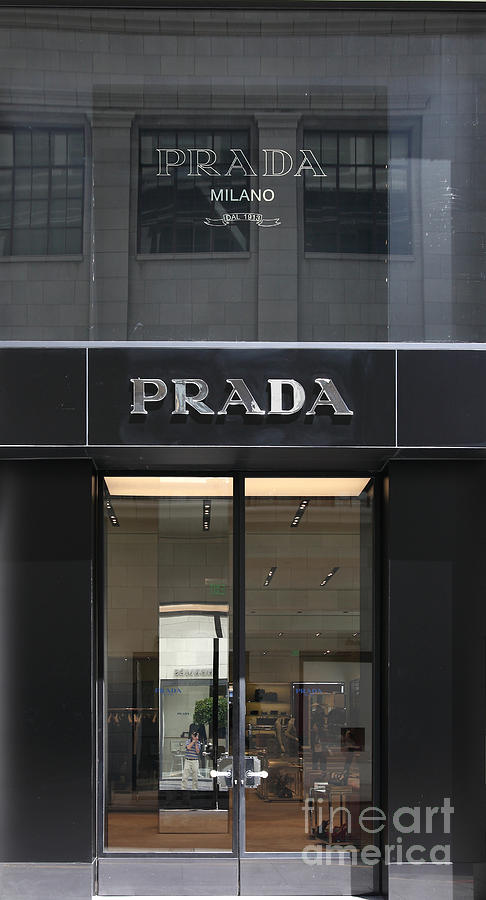 San Francisco Prada Fashion Store Doors - 5d17097 Photograph