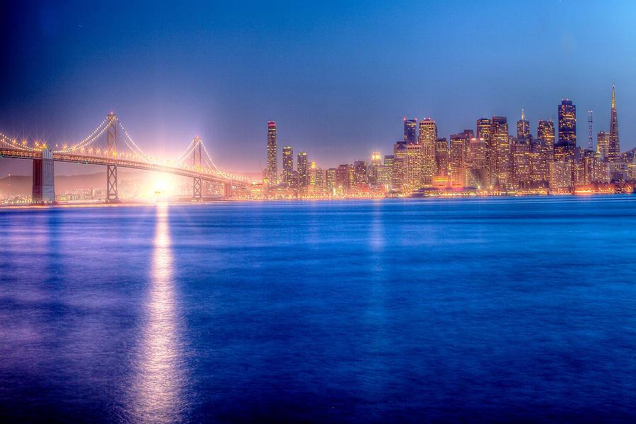 Treasure Island Photograph - San Francisco Skyline by Ariane Moshayedi