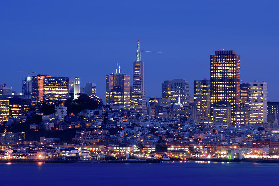 San Francisco Skyline At Dusk Photograph