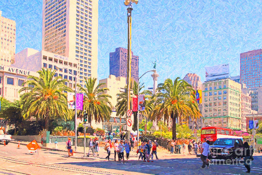 San Francisco Union Square Photograph  - San Francisco Union Square Fine Art Print