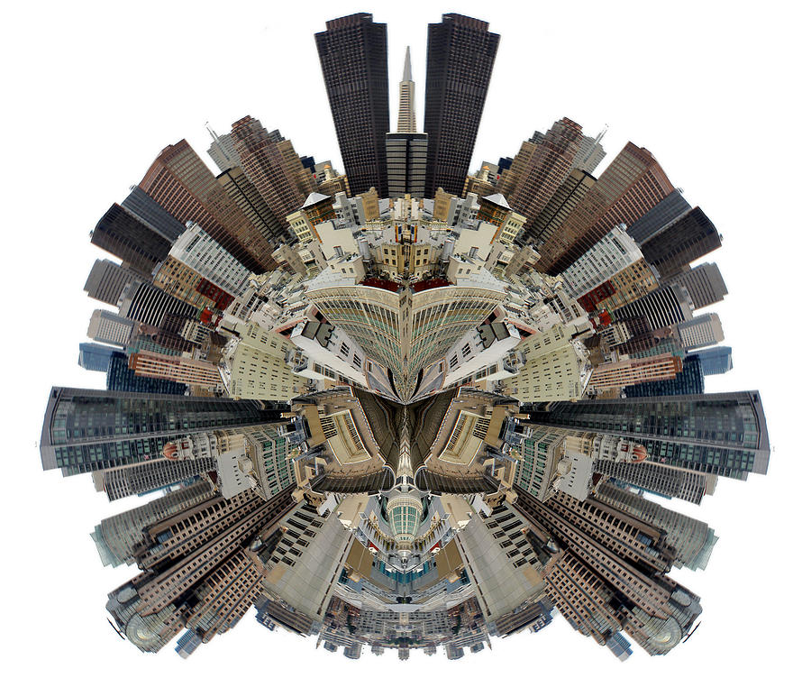 San Francisco World - Stereographic Photograph  - San Francisco World - Stereographic Fine Art Print