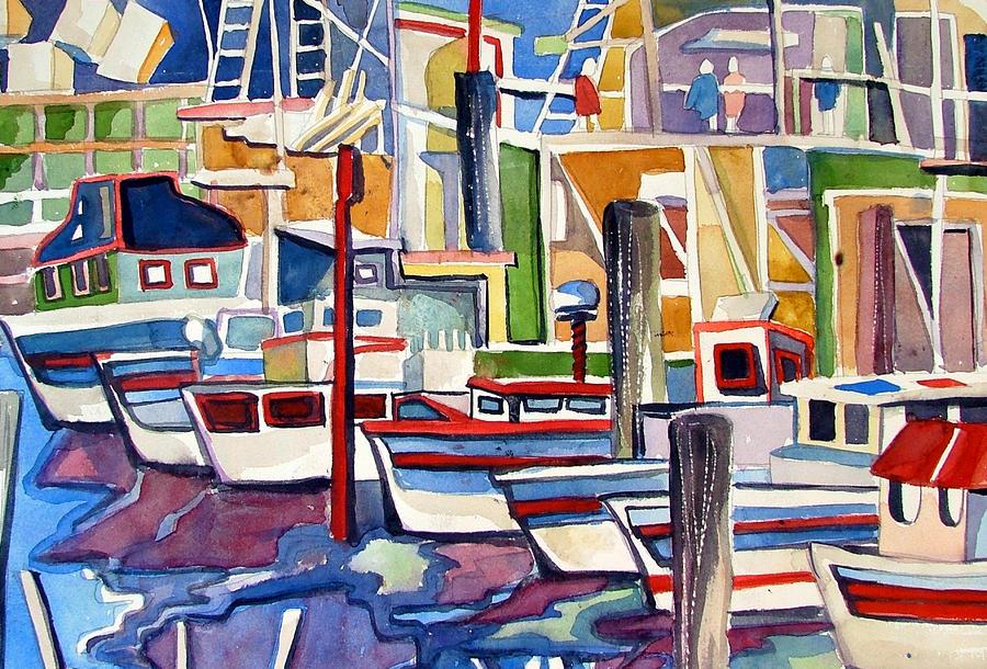 San Fransico Marina Painting