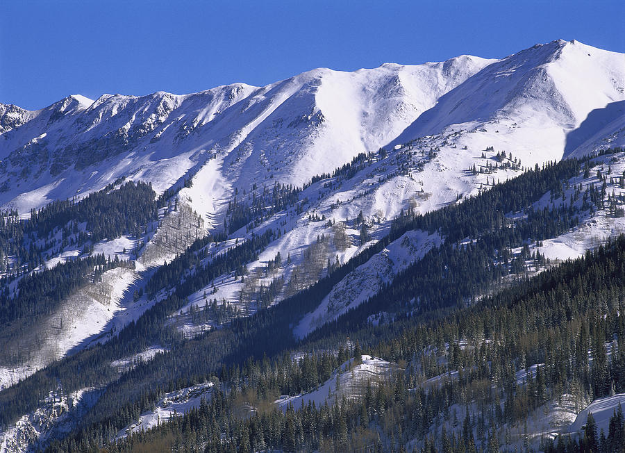 San Juan Mountains Covered In Snow Photograph