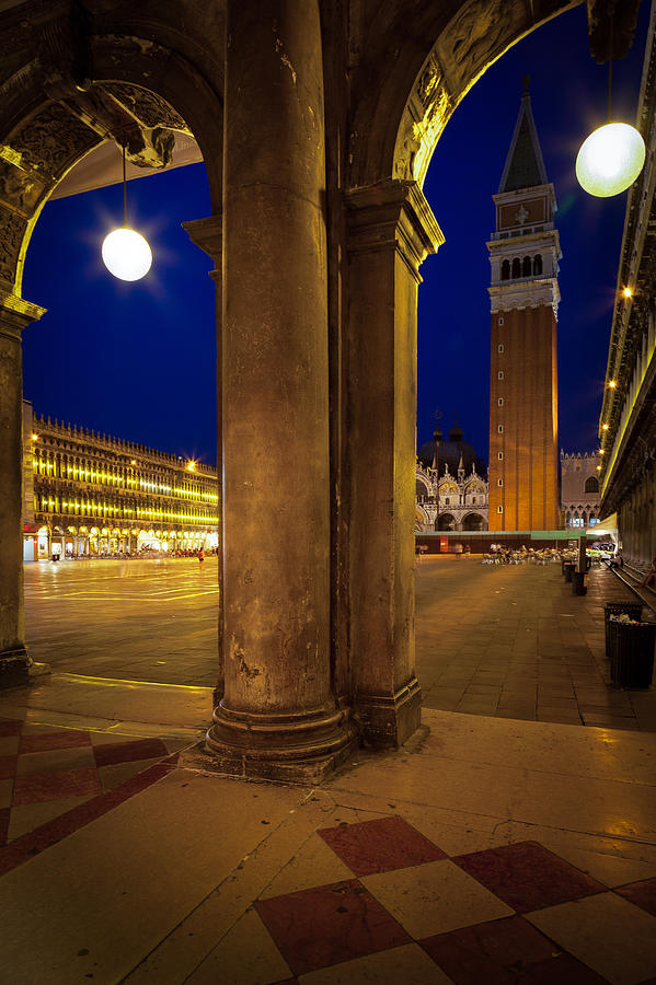 San Marco At Night Photograph  - San Marco At Night Fine Art Print