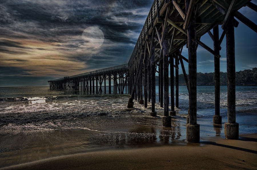 San Simeon By Moonlight Photograph