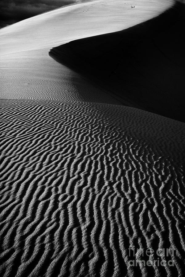 Sand Creation - Black And White Photograph