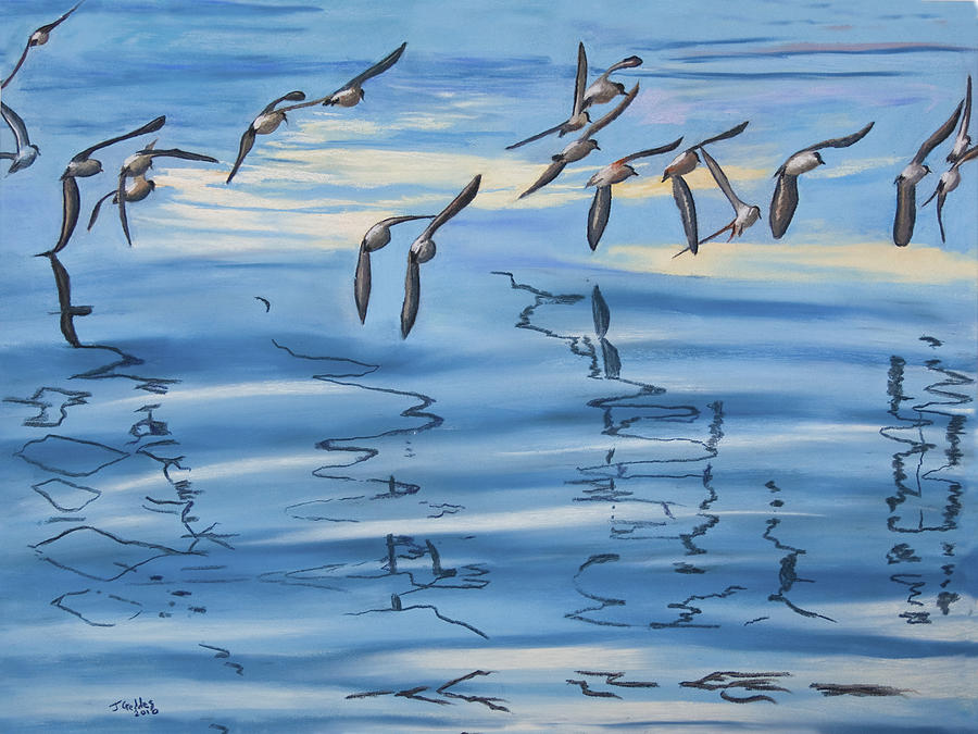 Sand Pipers Painting  - Sand Pipers Fine Art Print