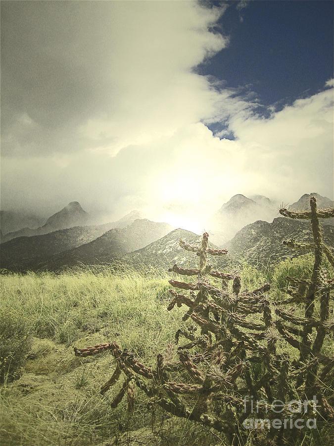 Sandia Mountains Fog Photograph