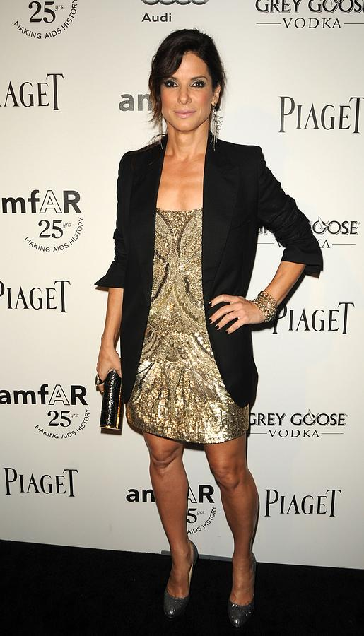 Sandra Bullock Wearing An Allsaints Photograph