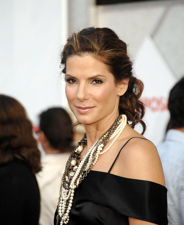 Sandra Bullock Photograph - Sandra Bullock Wearing Lanvin Necklaces by Everett