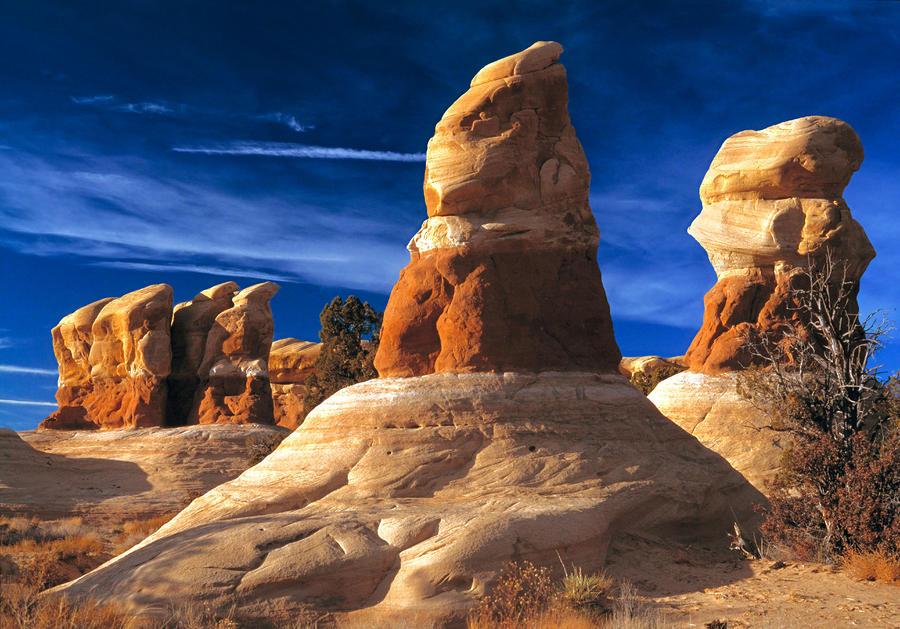 Sandstone Hoodoos In Utah Desert Photograph