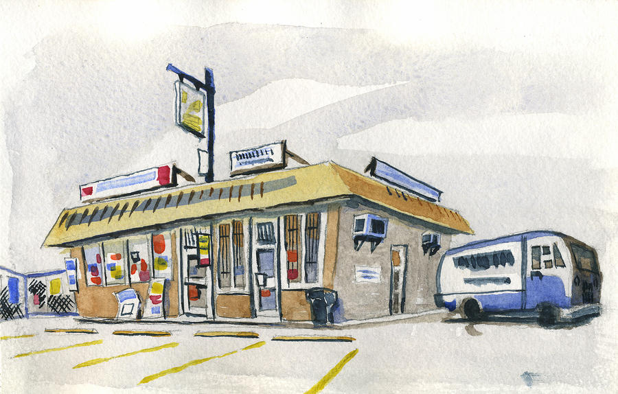 Sandwich Shop Painting